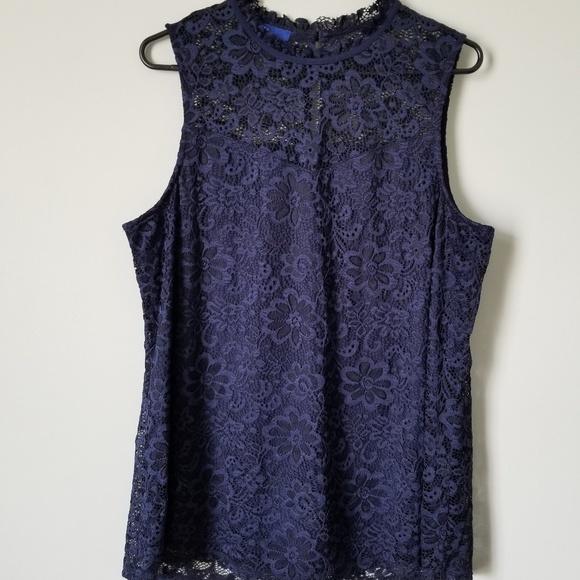 Apt. 9 Tops - NWOT Blue Floral Lace Blouse